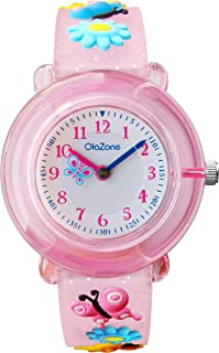 Girls Analog Watch Kids 3D Cartoon Waterproof Wrist Watch for 5-7 Year 101 (Pink)