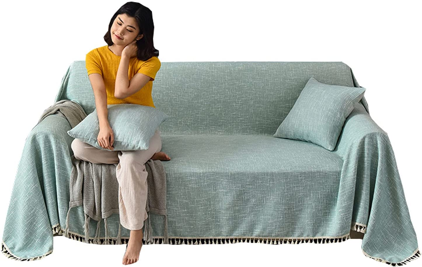 ZHFEL Sofa Chicago Mall Slipcover for 3 National products Seater Cover 2 Solid with Color