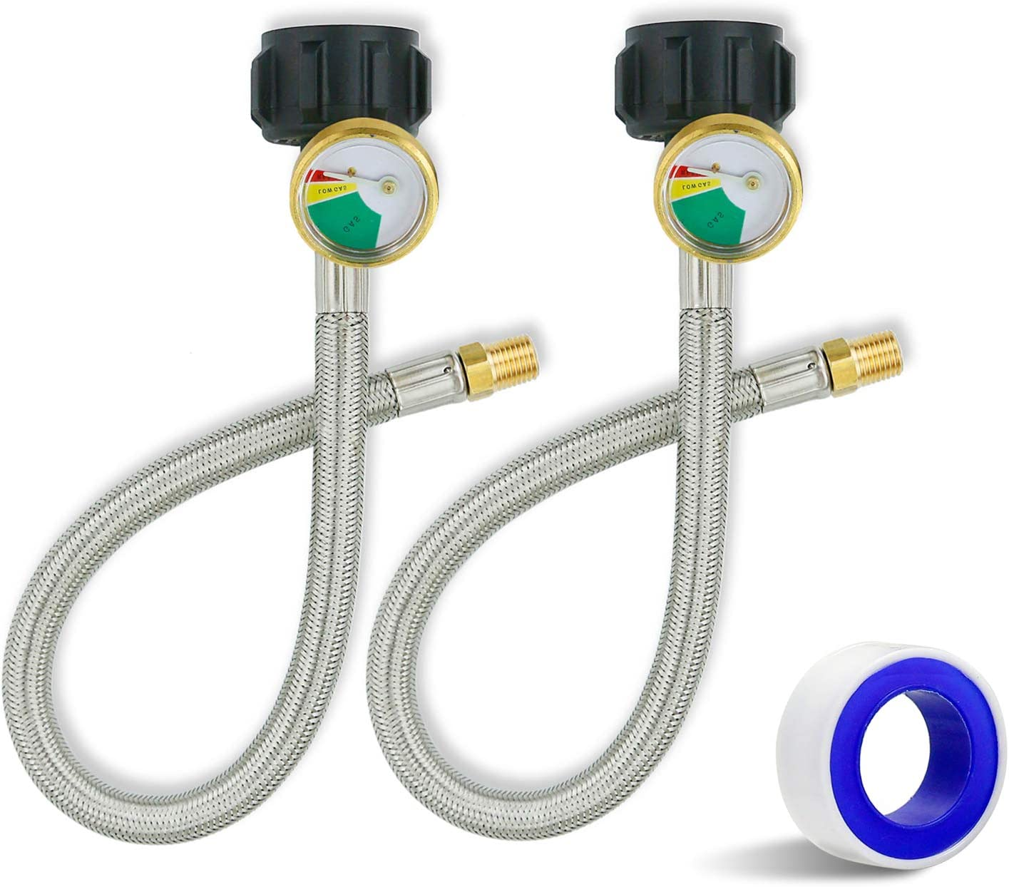 Uniflasy 1 4 inch NPT RV Propane 15 Pigtail Inch El Paso Ranking TOP7 Mall with Gauge Hose