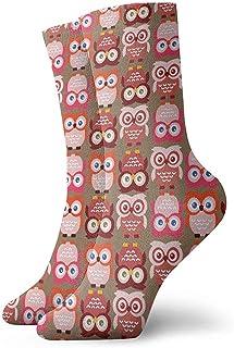 Dydan Tne, Niños Niñas Locos Búhos Divertidos Calcetines Rosas Preciosos Calcetines Lindos de Vestir de Novedad