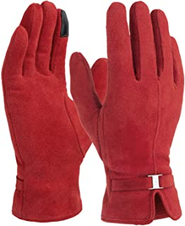 Womens Winter Gloves, Touch Screen Warm Glove - Keep Hand Warm in Cold Weather