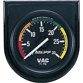 """Auto Meter 2610 Z-Series Vacuum Analog Gauges 30/""""Hg 2 1//16/"""""""