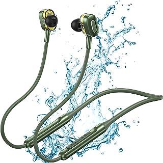 Cuffie In Ear Wireless Auricolari Bluetooth Running Con Filo Microfono Calamitate Sport, Tws ciffiette bloothoot, Fino A 15h Di Autonomia, HiFi Earphones Adatto Per Musica Chiamate E Sport