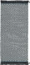Tikau ラグ 北欧 フィンランド 自然素材 おしゃれ 幾何学 厚め リビング 80x120cm 手織り マット: Zigzag(ブラウン)