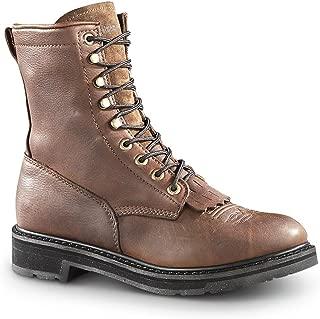 Guide Gear Men's 9 Kiltie Leather Work Boots