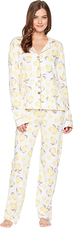 Playful Prints Lemon PJ Set