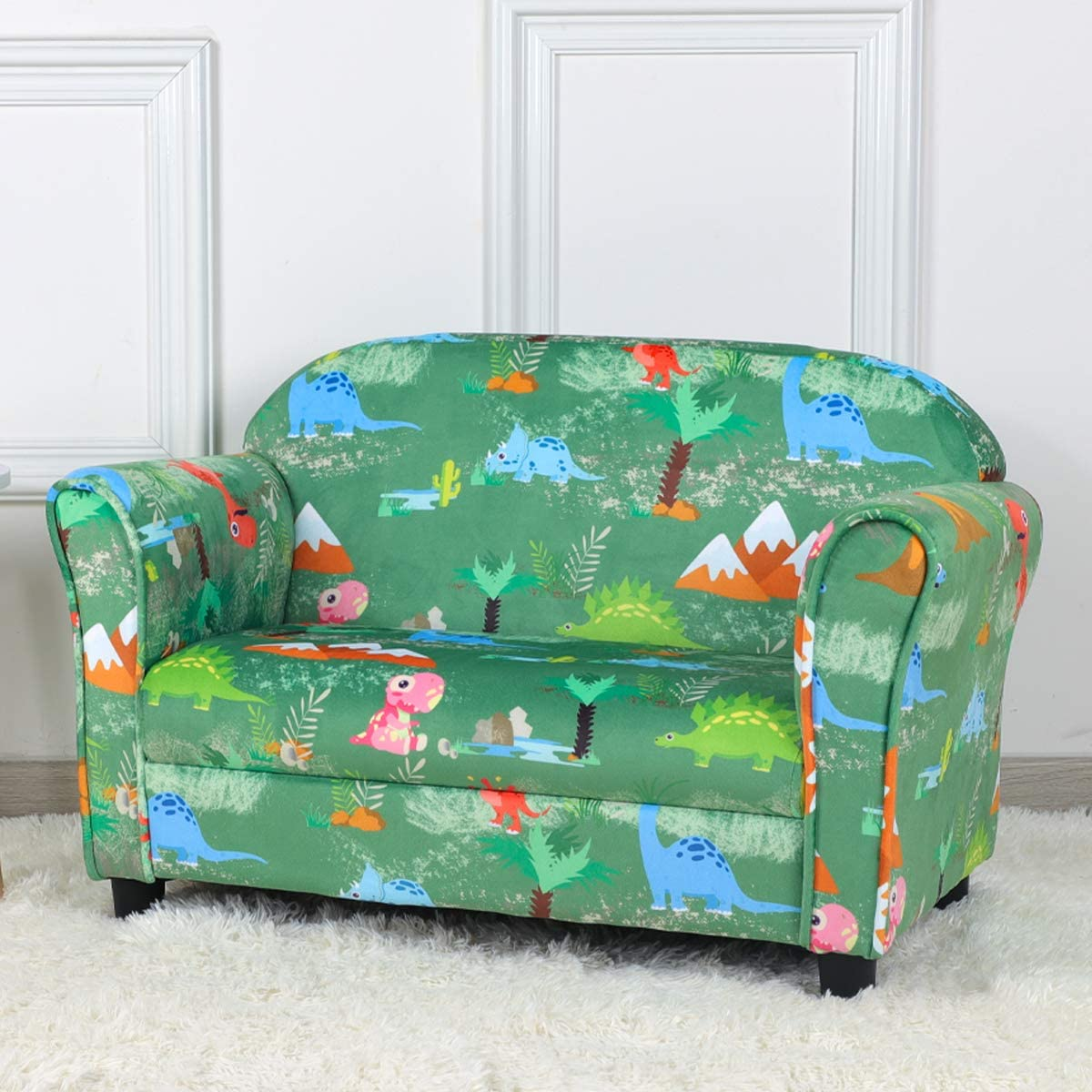 Kid Sofa Chair Velvet Fabric Recommended Upholstered Couch 2-Seater Pe Mesa Mall