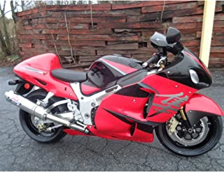 Red w/Black & Chrome Painted injection ABS plastic body kit fairing suit for 1999-2007 Suzuki GSXR 1300 Hayabusa 2000 2001 2002 2003 2004 2005 2006