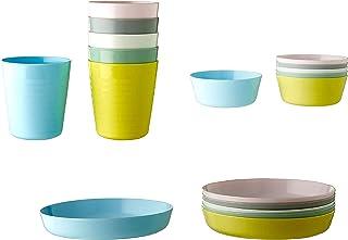 comprar comparacion IKEA KALAS - Vajilla infantil (6 cuencos, 6 platos, 6 tazas), multicolor