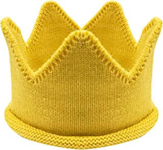 Baby Boy & Girl Birthday Party Knitted Crown Headband Beanie Cap Hat