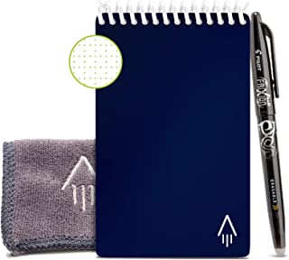 Rocketbook Smart Reusable Notebook - Dotted Grid Eco-Friendly Notebook with 1 Pilot Frixion Pen & 1 Microfiber Cloth Inclu...