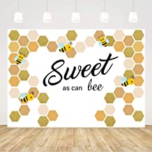 Bee Baby Shower Backdrop Boy Girl Sweet As Can Bee Baby Shower Photo Background 7x5ft 1st Birthday Backdrop Gender Reveal Decorations Newborn Birthday Party Supplies Babyshower Photobooth Backdrop