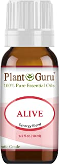 Alive Essential Oil Blend 10 ml 100% Pure, Undiluted, Therapeutic Grade. Anxiety, Depression, Relaxation, Boost Mood, Uplifting, Calming, Aromatherapy, Diffuser.