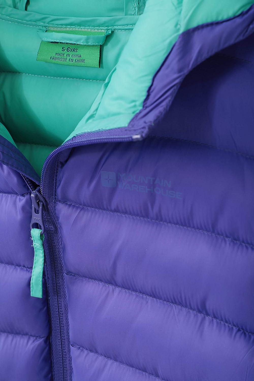 da Pioggia Mountain Warehouse Seasons da Viaggio Invernale Impermeabile Giacca Imbottita da Bambino con Polsini Elastici e Due Tasche Frontali Leggera Casual