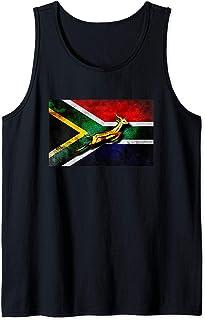 Springbok Bokke South African Flag Vintage Rugby Tank Top