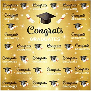 Muzi Graduation Photography Backdrops College Prom Customized Wall Banner Congrats Grad Party Photo Booth Studio Props 5x3ft W-1415