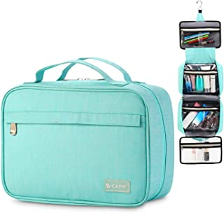 Travel Hanging Toiletry Bag Travel Kit Organizer for Men and Women (Light blue)