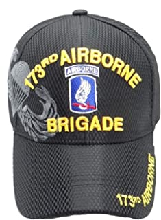 US Army 173rd Airborne Brigade Mens Girls Classical Hat Fashionable Peak Cap Chapeau