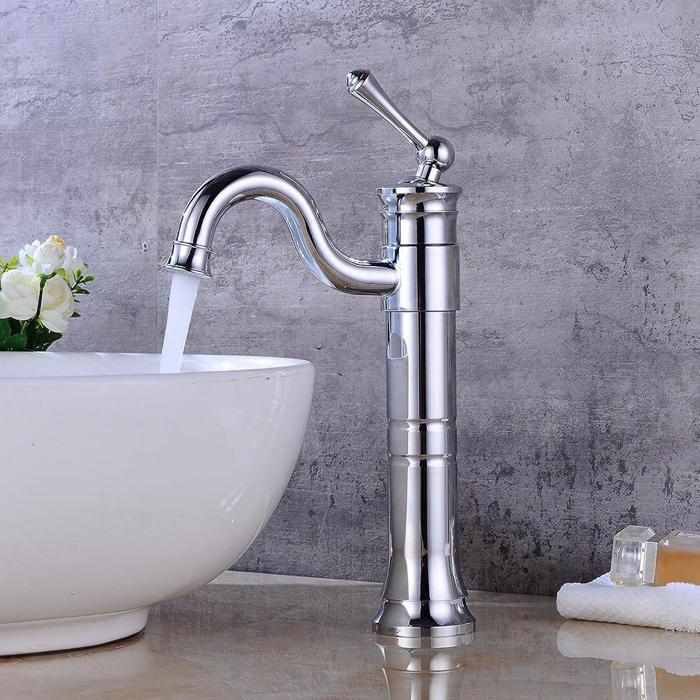Bijjaladeva Wasserhahn Bad Wasserfall Mischbatterie Waschbecken Waschtisch Armatur für BadModerne Plating rotierende Wasserhahn Einloch Einzigen Griff Keramik Ventil Kaltes Wasser