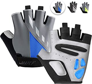 MAJCF Cycling Gloves Men Bicycle Gloves Half Finger 5MM...