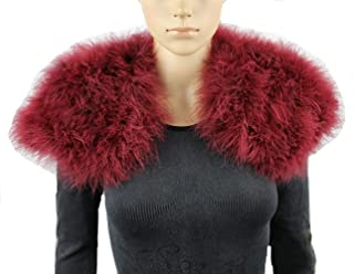 Real Ostrich Feather Cape Fluffy Warm Scarf Party Protect Your Shoulders