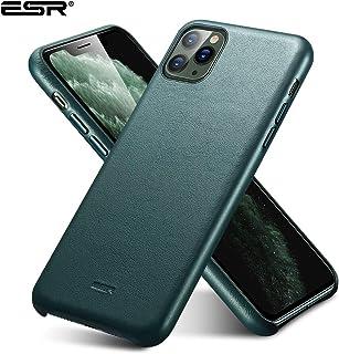 ESR - iPhone 11 Pro Metro Premium Leather Case. Pine Green