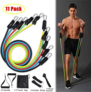 JISONCASE Fitness Resistance Bands Set,11-Pieces Workout...
