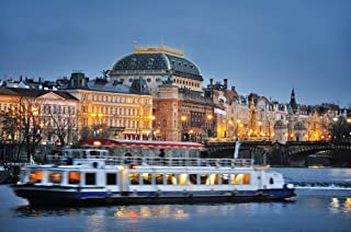 Prague By Night Dinner Cruise for Two - Tinggly Voucher/Gift Card in a Gift Box