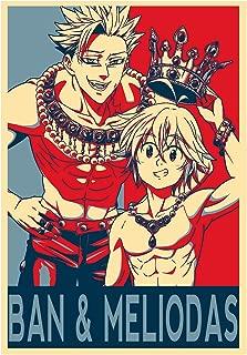 Instabuy Poster Seven Deadly Sins Propaganda Ban & Meliodas - A3 (42x30 cm)