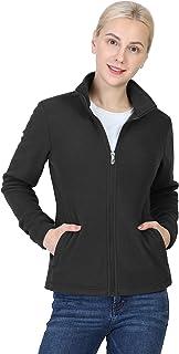 Outdoor Ventures Women's Zip Up Long-Sleeve Classic Fit Casual Soft Polar Fleece Jacket with 4 Pockets