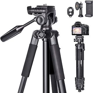 Treppiedi fotocamera 170CM cavalletto per fotocamera in alluminio con supporto per cellulare, telecomando Bluetooth e cust...