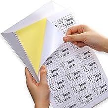 UK Lp12//99, imprimable avec laser ou imprimante /à jet d/'encre 12/par page//fiche 60/Sticky /étiquettes d/'adresse Labelplanet/® Blanc uni vierge Mat papier autocollant A4/d/'adresse Stickers 5/feuilles