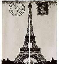 Custom Frech Paris Eiffel Tower City of Love Black White Japanese Noren Doorway Curtain Door and Window Curtain Tapestry Size 105x120cm