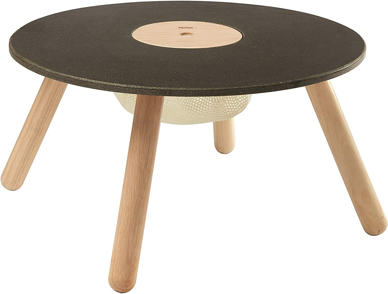 Entrega gratuita y rápida disponible. PlanJuguetes- Round Table Table Table Mobiliario ecológico, Juguete, Color Negro, Madera (8605)  compras en linea
