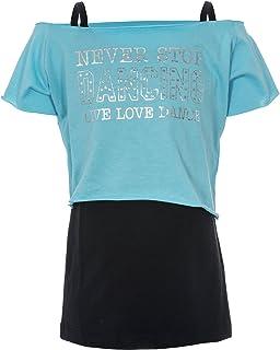 Camiseta de baile «Love to dance», de la marca Brody & Co., de dos capas para mujer