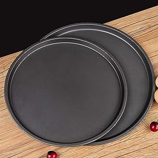 Lot de 2 plaques de cuisson rondes à pizza, anti-adhésives, pour four à pizza, grillades et accessoires de cuisine – 22,9 ...