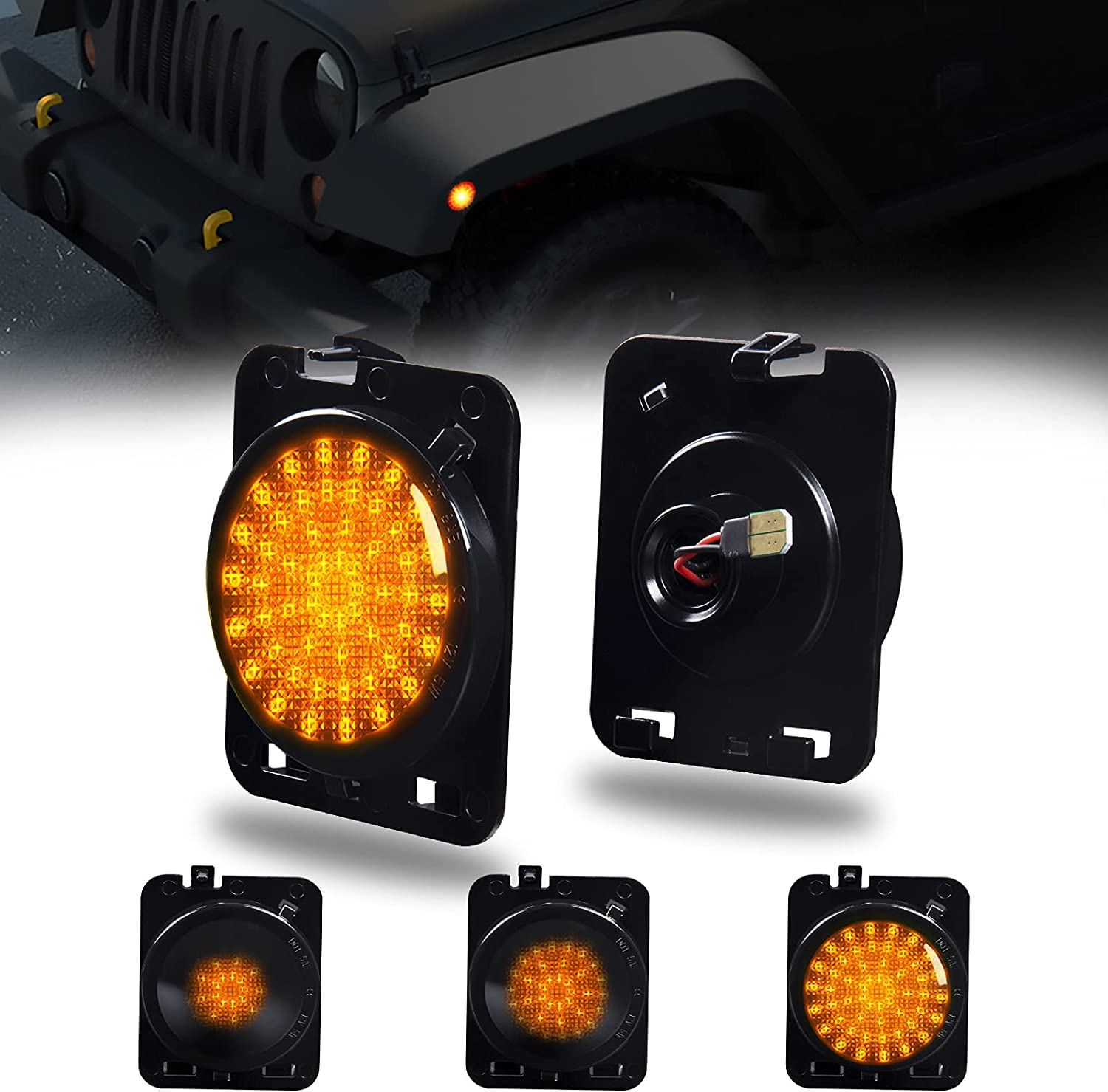 LED In a popularity Side Marker Front Fender Signal Amber Sequential Turn Special Campaign Parkin