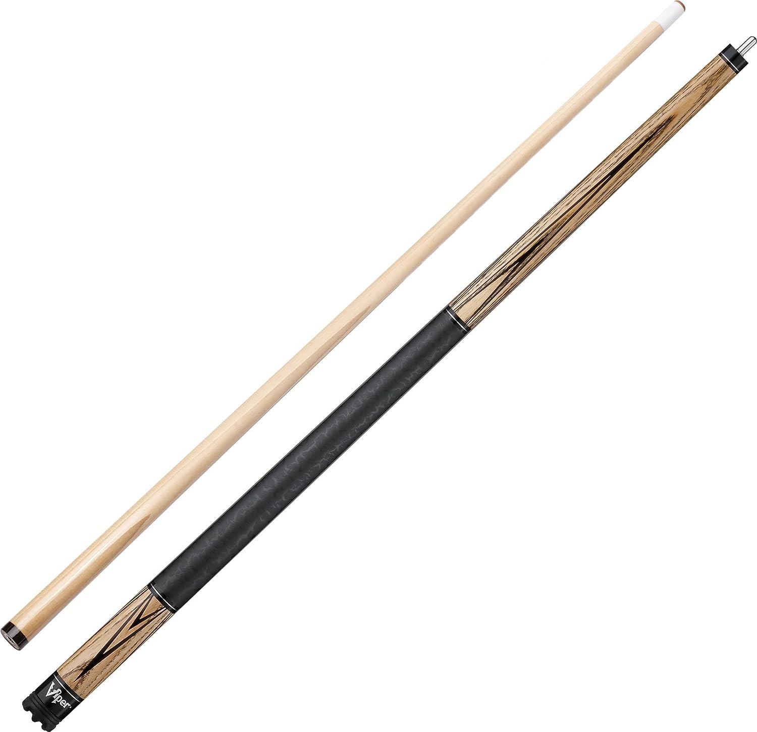 Viper Elemental 58  2-Piece Billiard Pool Cue, Natural Ash with Wood Grain, 21 Ounce