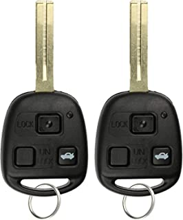 KeylessOption Keyless Entry Remote Fob Uncut Car Master Ignition Key for Lexus ES330 LS430 SC430, HYQ12BBT (Pack of 2)