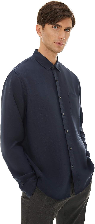 MORALCHO 100% Hemp Shirt Men's Long Casual Max 66% OFF safety Regular-Fit Sle
