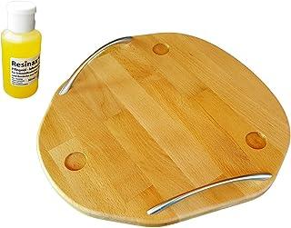 Thermomix Tabla deslizante de madera de haya para la TM5 TM6 + aceite de cuidado para tablas de cortar y mangos de cuchillos, apto para alimentos, calidad ecológica