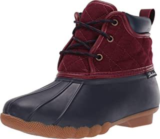Skechers POND - LIL PUDDLES - Mid Quilted Lace Up Duck Boot with Waterproof Outsole womens Rain Boot