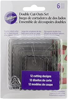 Wilton 6-Piece Nesting Fondant Double Sided Cut Out Cutters, Square
