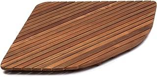 AsinoX TEK3A7171 Tarima de ducha de madera de teca, Natural