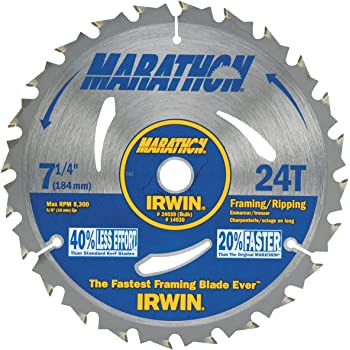 """7-1//4/"""" Circular Saw 24 Tooth Classic Series Carbide Irwin 25130 Lot of 50 Blades"""