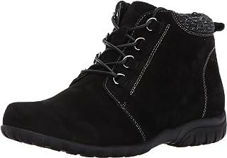حذاء برقبة طويلة طويلة للكاحل من Propet للنساء، جلد سويدي أسود، 6 ضيق