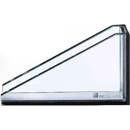 biege- und sto/ßbelastbar. Einscheibensicherheitsglas ohne Stempel Ecken gesto/ßen 300 x 600 mm klar durchsichtig Kanten geschliffen und poliert Glasplatten ESG 8mm Nach Ma/ß bis 30 x 60 cm
