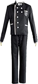 ZYHCOS Cosplay Costume Mens Black and White Stripes Halloween Uniform Suit