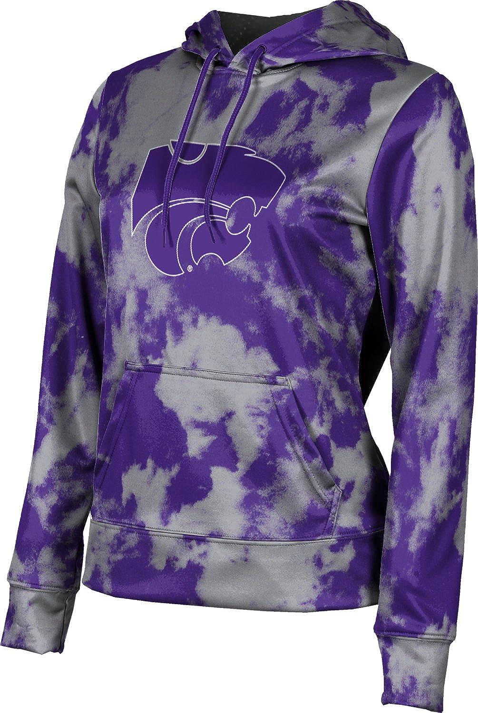 ProSphere Kansas State University Girls' Pullover Hoodie, School Spirit Sweatshirt (Grunge)