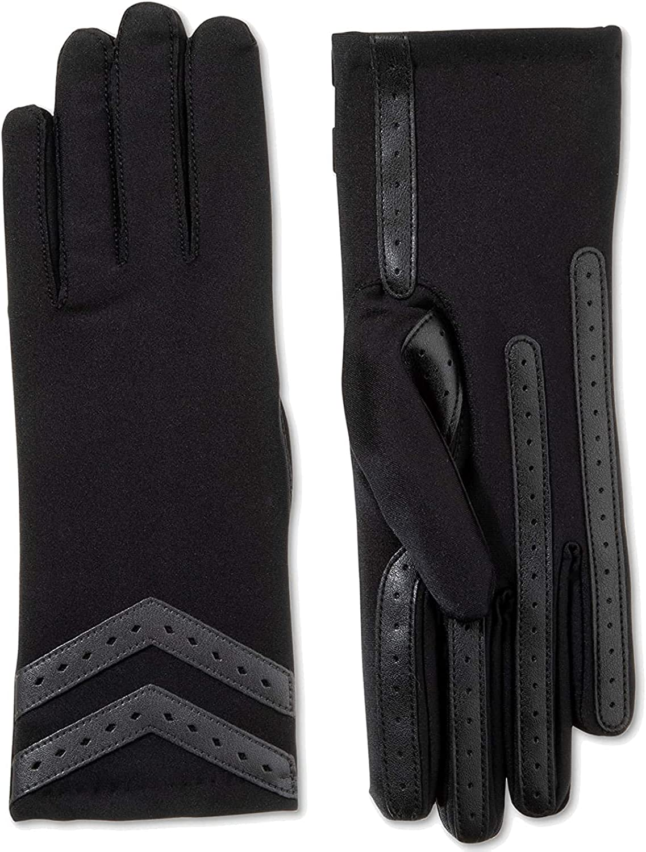 Isotoner Signature Women's Smart Dri Gloves (Black, S/M)
